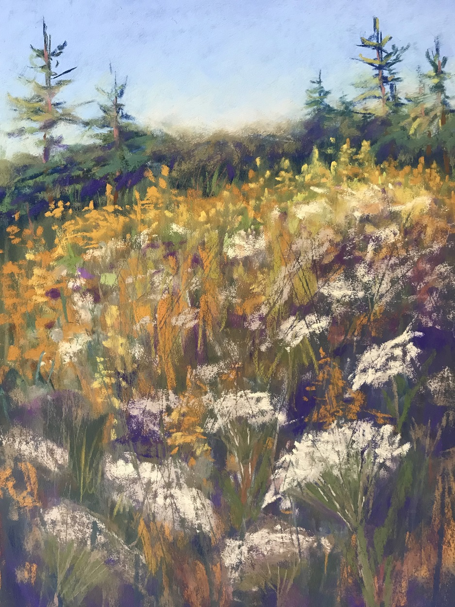 An image of Autumn Bounty, a painting by Renata Bradshaw landscape artist