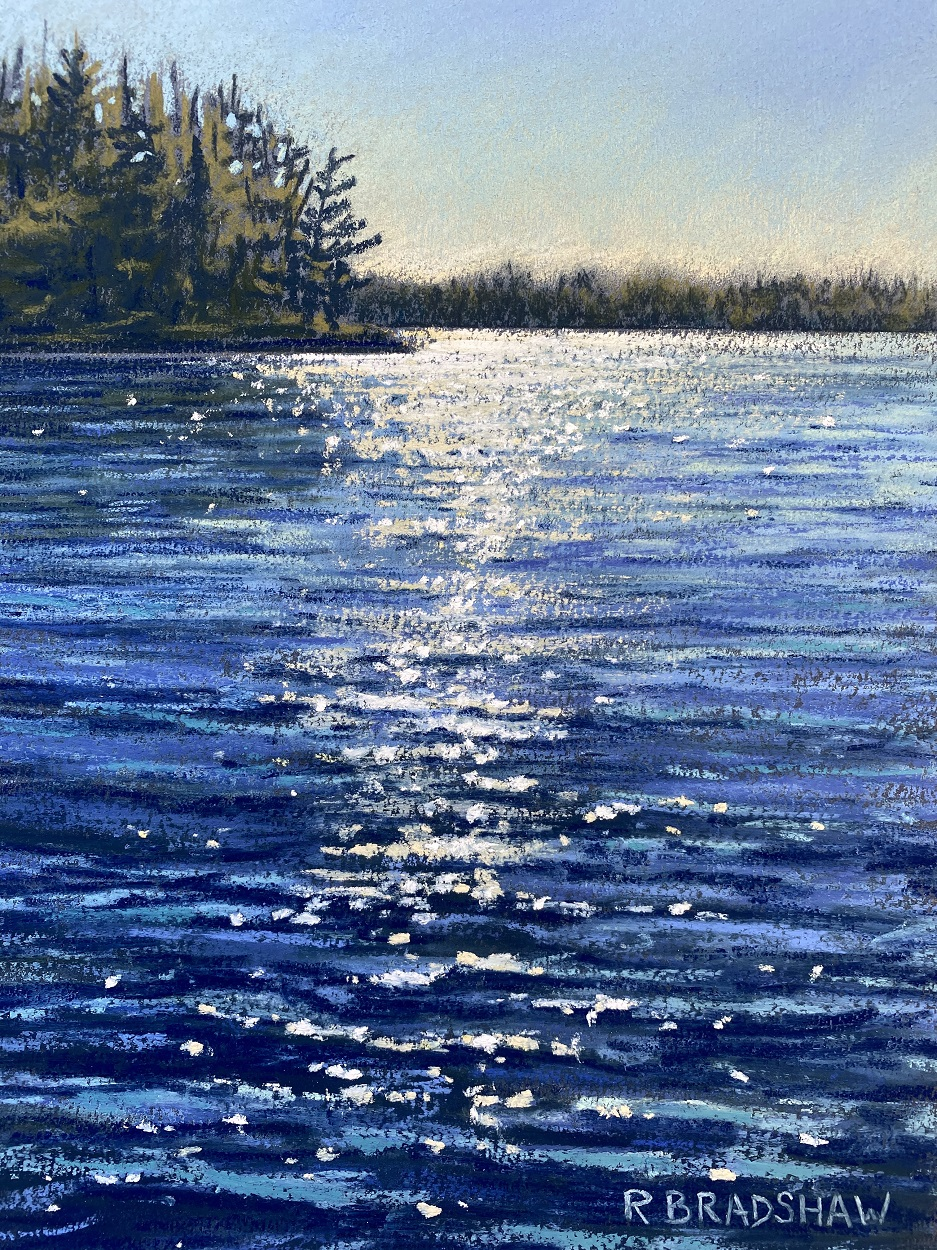 An image of Sparking Joy, a painting by Renata Bradshaw Landscape Artist