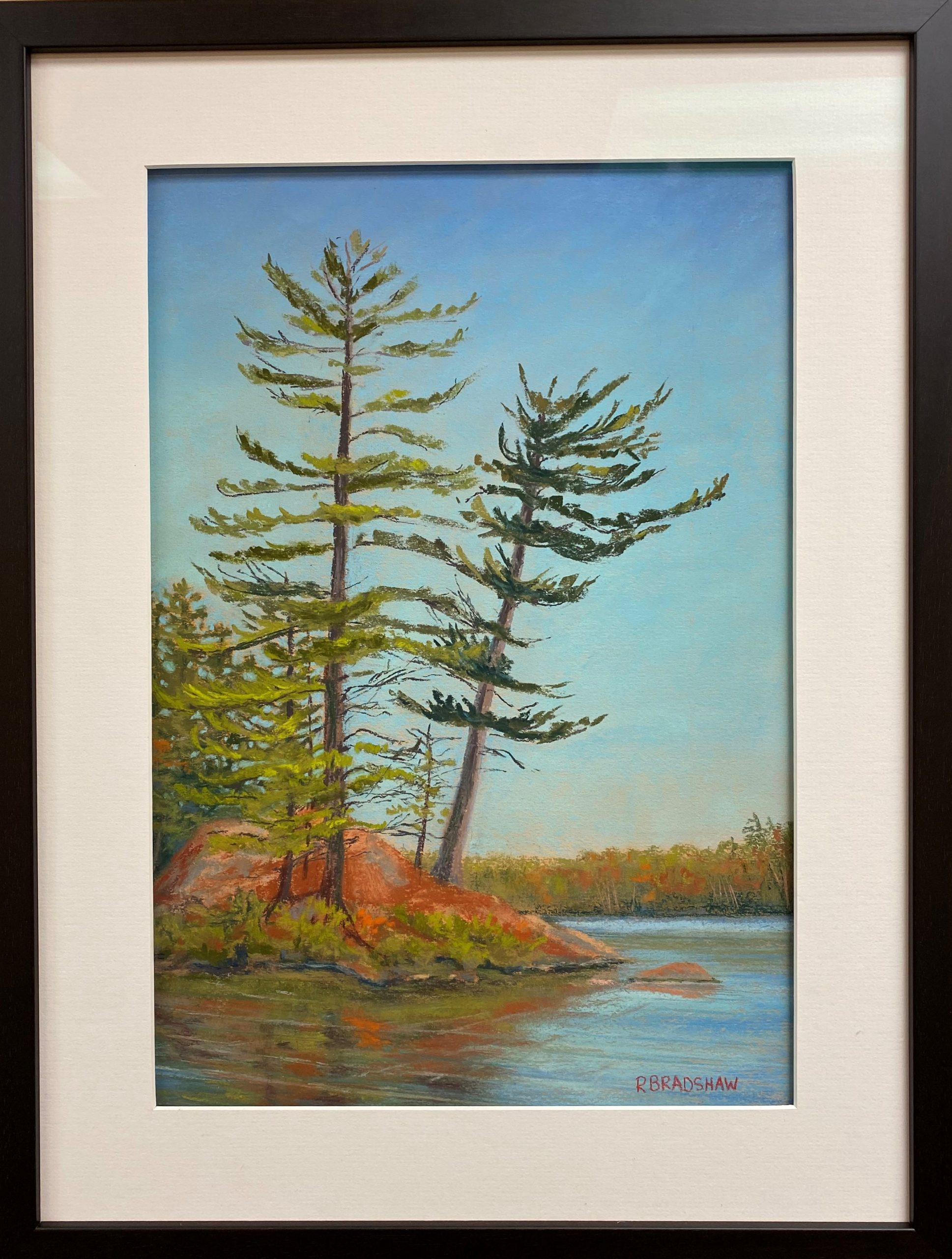 An image of Renata Bradshaw's pastel on paper painting Fall in Killarney